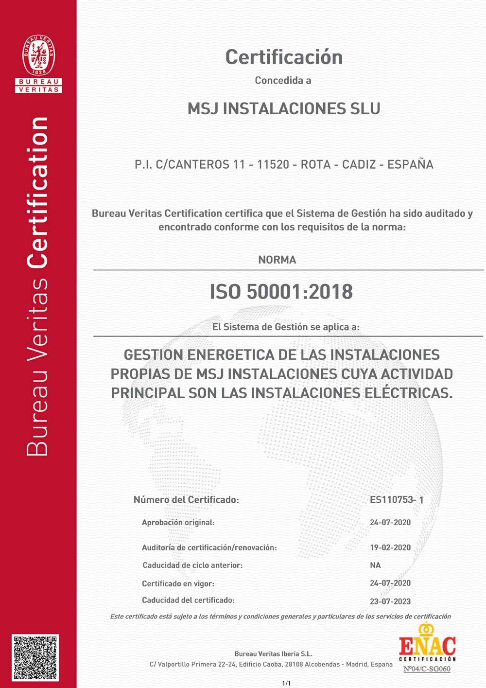 Certificado ISO 50001 Protecsil